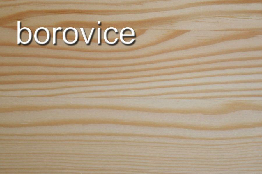 Odstín : lakovaný borovicový masiv