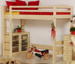 dřevěný masiv - Patrová postel - Palanda - Horní spaní