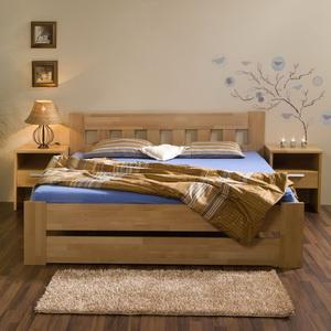 753d6bde0f0a Manželská postel Filip senior - masivní BUK cink ...